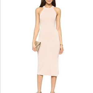 Alice & Olivia AIR Lumi Fitted Dress in Pale Nude